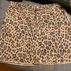 Leopard Denim Skirt | 8